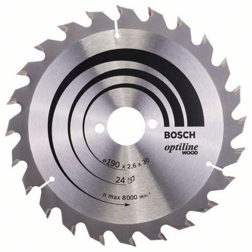 Bosch - Pilový kotouč Optiline Wood 190 x 30 x 2,6 mm, 24