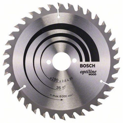 Bosch - Pilový kotouč Optiline Wood 190 x 30 x 2,6 mm, 36