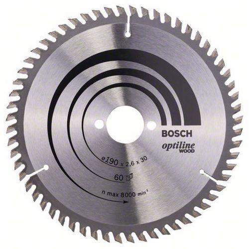 Bosch - Pilový kotouč Optiline Wood 190 x 30 x 2,6 mm, 60