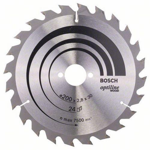 Bosch - Pilový kotouč Optiline Wood 200 x 30 x 2,8 mm, 24