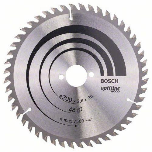 Bosch - Pilový kotouč Optiline Wood 200 x 30 x 2,8 mm, 48