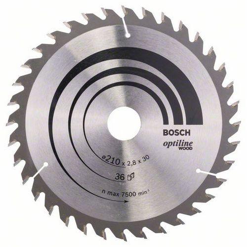 Bosch - Pilový kotouč Optiline Wood 210 x 30 x 2,8 mm, 36