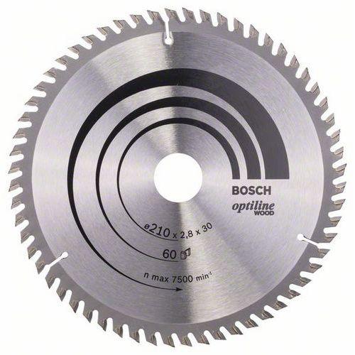 Bosch - Pilový kotouč Optiline Wood 210 x 30 x 2,8 mm, 60