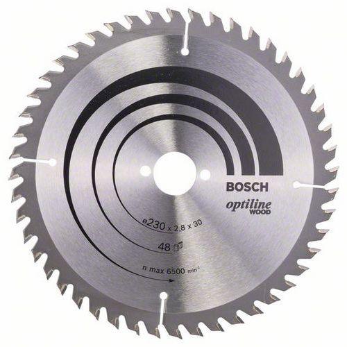 Bosch - Pilový kotouč Optiline Wood 230 x 30 x 2,8 mm, 48