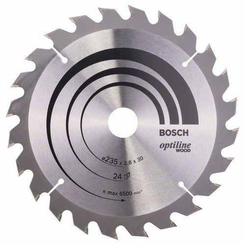 Bosch - Pilový kotouč Optiline Wood 235 x 30/25 x 2,8 mm, 24