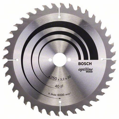 Bosch - Pilový kotouč Optiline Wood 250 x 30 x 3,2 mm, 40