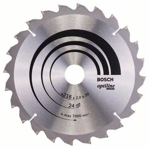 Bosch - Pilový kotouč Optiline Wood 216 x 30 x 2,0 mm, 24