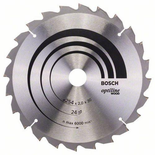 Bosch - Pilový kotouč Optiline Wood 254 x 30 x 2,0 mm, 24