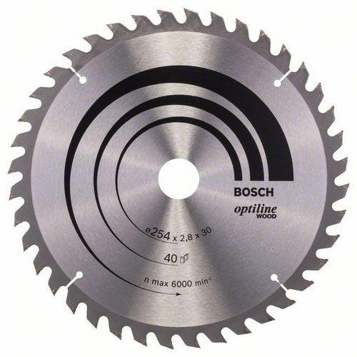Bosch - Pilový kotouč Optiline Wood 254 x 30 x 2,8 mm, 40