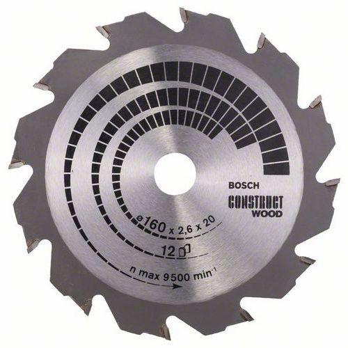 Bosch - Pilový kotouč Construct Wood 160 x 20/16 x 2,6 mm; 12