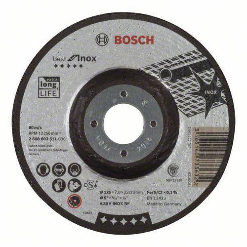 Bosch - Hrubovací kotouč profilovaný Best for Inox A 30 V INOX BF, 125 mm, 7,0 mm, 10 BAL