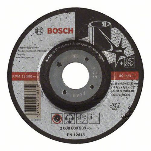 Bosch - Hrubovací kotouč profilovaný Expert for Inox AS 30 S INOX BF, 115 mm, 6,0 mm, 10 BAL