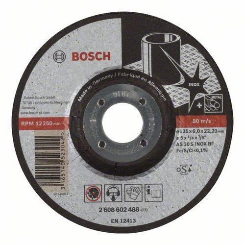 Bosch - Hrubovací kotouč profilovaný Expert for Inox AS 30 S INOX BF, 125 mm, 6,0 mm, 10 BAL