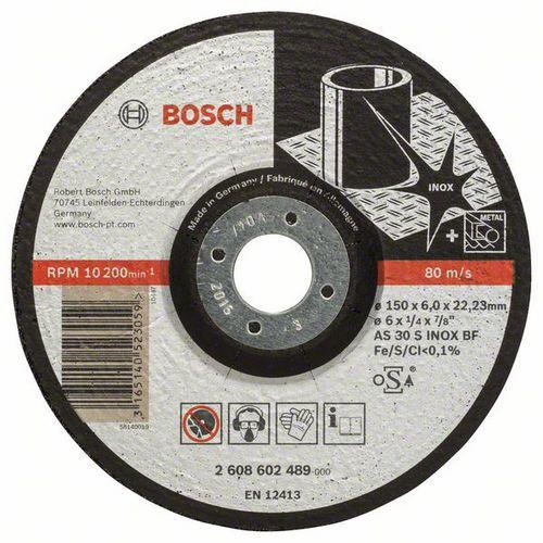Bosch - Hrubovací kotouč profilovaný Expert for Inox AS 30 S INOX BF, 150 mm, 6,0 mm, 10 BAL
