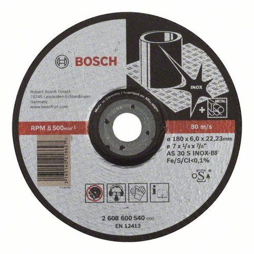 Bosch - Hrubovací kotouč profilovaný Expert for Inox AS 30 S INOX BF, 180 mm, 6,0 mm, 10 BAL