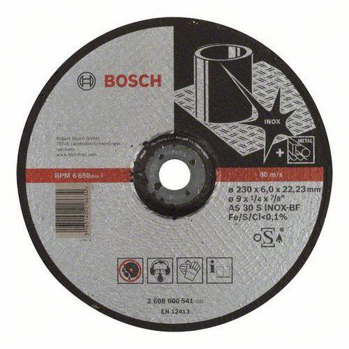 Bosch - Hrubovací kotouč profilovaný Expert for Inox AS 30 S INOX BF, 230 mm, 6,0 mm, 10 BAL