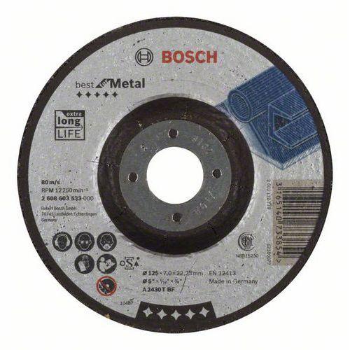 Bosch - Hrubovací kotouč profilovaný Best for Metal A 2430 T BF, 125 mm, 7,0 mm, 10 BAL
