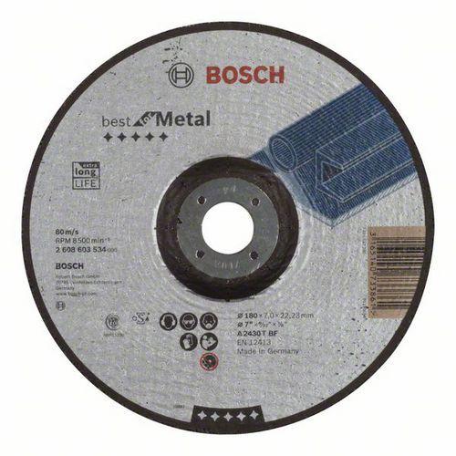 Bosch - Hrubovací kotouč profilovaný Best for Metal A 2430 T BF, 180 mm, 7,0 mm, 10 BAL
