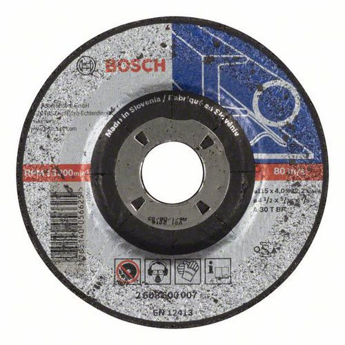 Bosch - Hrubovací kotouč profilovaný Expert for Metal A 30 T BF, 115 mm, 4,0 mm, 10 BAL
