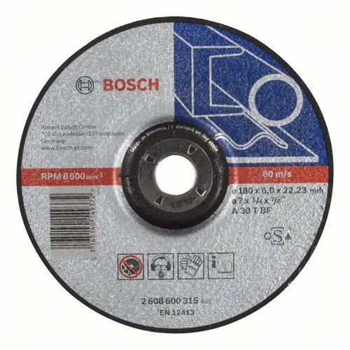 Bosch - Hrubovací kotouč profilovaný Expert for Metal A 30 T BF, 180 mm, 6,0 mm, 10 BAL