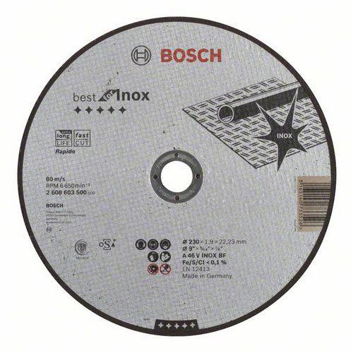 Bosch - Řezný kotouč rovný Best for Inox - Rapido A 46 V INOX BF, 230 mm, 1,9 mm, 25 BAL