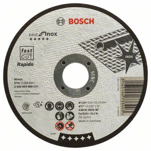 Bosch - Řezný kotouč rovný Best for Inox - Rapido A 60 W INOX BF, 125 mm, 0,8 mm, 25 BAL