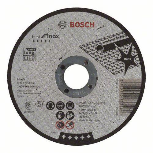 Bosch - Řezný kotouč rovný Best for Inox A 30 V INOX BF, 125 mm, 2,5 mm, 25 BAL