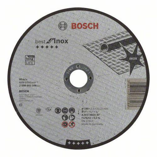 Bosch - Řezný kotouč rovný Best for Inox A 30 V INOX BF, 180 mm, 2,5 mm, 25 BAL