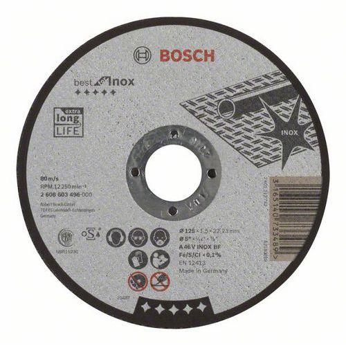 Bosch - Řezný kotouč rovný Best for Inox A 46 V INOX BF, 125 mm, 1,5 mm, 25 BAL