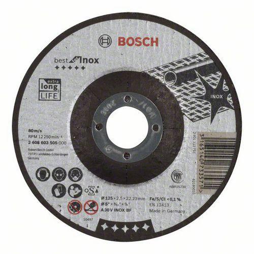 Bosch - Řezný kotouč profilovaný Best for Inox A 30 V INOX BF, 125 mm, 2,5 mm, 25 BAL