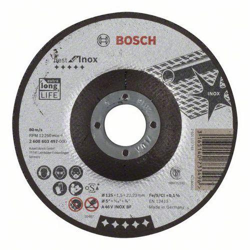 Bosch - Řezný kotouč profilovaný Best for Inox A 46 V INOX BF, 125 mm, 1,5 mm, 25 BAL