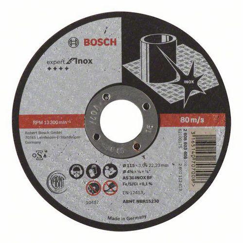 Bosch - Řezný kotouč rovný Expert for Inox AS 30 S INOX BF, 115 mm, 3,0 mm, 25 BAL