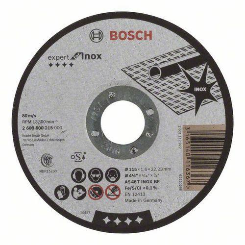 Bosch - Řezný kotouč rovný Expert for Inox AS 46 T INOX BF, 115