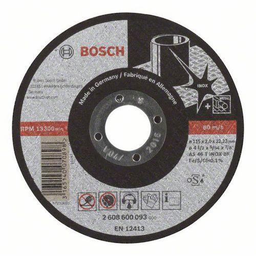 Bosch - Řezný kotouč rovný Expert for Inox AS 46 T INOX BF, 115 mm, 2,0 mm, 25 BAL