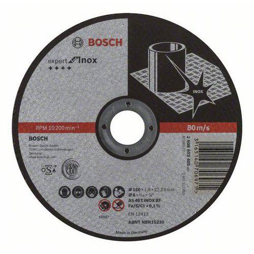 Bosch - Řezný kotouč rovný Expert for Inox AS 46 T INOX BF, 150 mm, 1,6 mm, 25 BAL