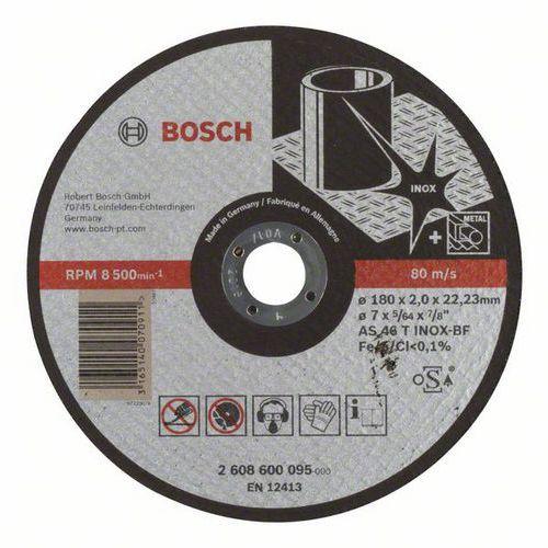 Bosch - Řezný kotouč rovný Expert for Inox AS 46 T INOX BF, 180 mm, 2,0 mm, 25 BAL