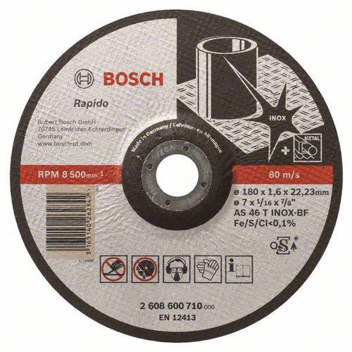 Bosch - Řezný kotouč profilovaný Expert for Inox - Rapido AS 46 T INOX BF, 180 mm, 1,6 mm, 25 BAL