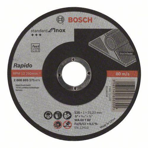 Bosch - Řezný kotouč rovný Standard for Inox - Rapido WA 60 T BF, 125 mm, 22,23 mm, 1,0 mm, 50 BAL