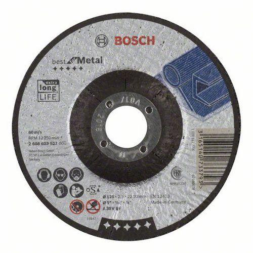 Bosch - Řezný kotouč profilovaný Best for Metal A 30 V BF, 125 mm, 2,5 mm, 25 BAL