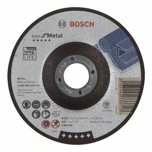 Bosch - Řezný kotouč profilovaný Best for Metal A 46 V BF, 125 mm, 1,5 mm, 25 BAL