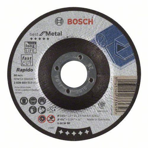 Bosch - Řezný kotouč profilovaný Best for Metal - Rapido A 60 W BF, 115 mm, 1,0 mm, 25 BAL