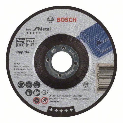 Bosch - Řezný kotouč profilovaný Best for Metal - Rapido A 60 W BF, 125 mm, 1,0 mm, 25 BAL