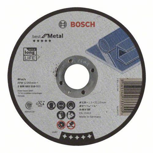 Bosch - Řezný kotouč rovný Best for Metal A 46 V BF, 125 mm, 1,5 mm, 25 BAL