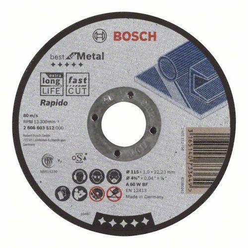 Bosch - Řezný kotouč rovný Best for Metal - Rapido A 60 W BF, 115 mm, 1,0 mm, 25 BAL