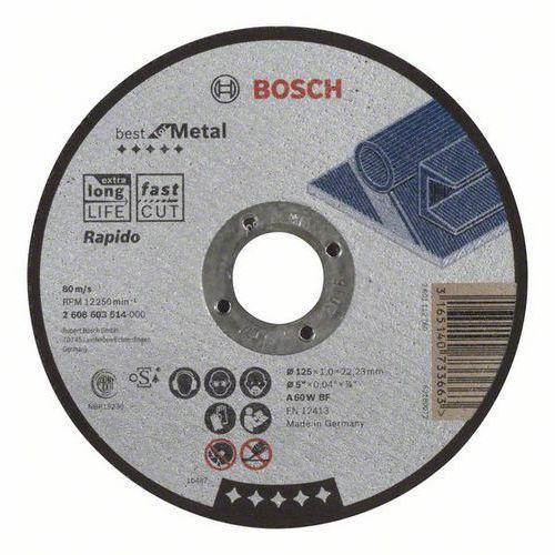 Bosch - Řezný kotouč rovný Best for Metal - Rapido A 60 W BF, 125 mm, 1,0 mm, 25 BAL