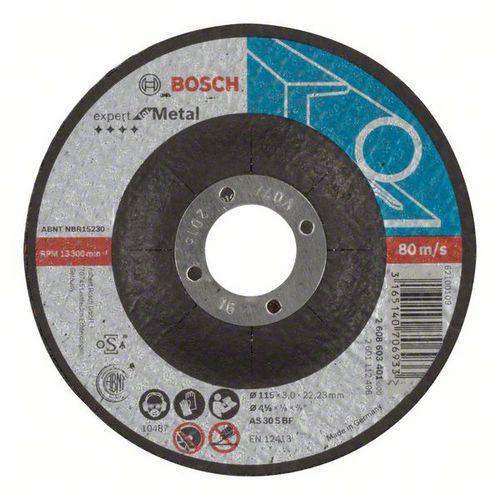 Bosch - Řezný kotouč profilovaný Expert for Metal AS 30 S BF, 115 mm, 3,0 mm, 25 BAL