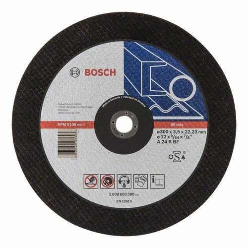 Bosch - Řezný kotouč rovný Expert for Metal A 24 R BF, 300 mm, 3,5 mm, 10 BAL