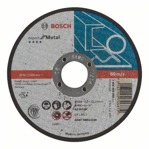 Bosch - Řezný kotouč rovný Expert for Metal AS 30 S BF, 115 mm, 3,0 mm, 25 BAL