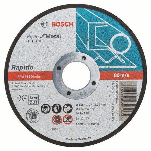 Bosch - Řezný kotouč rovný Expert for Metal - Rapido AS 60 T BF, 115 mm, 1,0 mm, 25 BAL