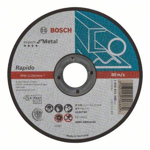 Bosch - Řezný kotouč rovný Expert for Metal - Rapido AS 60 T BF, 125 mm, 1,0 mm, 25 BAL